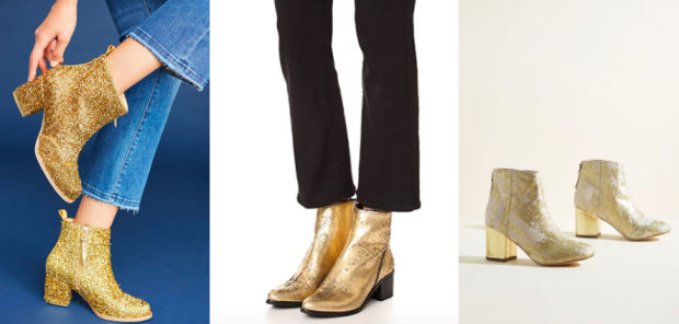 Would You Wear… Gold Booties?