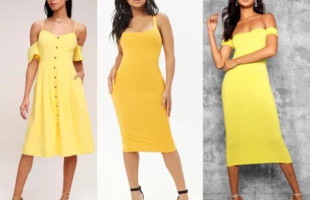 Class to Night Out: Yellow Midi Dress